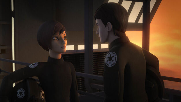 "Star Wars Rebels, ""The Antilles Extraction"": Sabine Wren and Wedge Antilles"