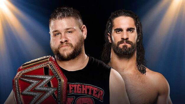 Kevin Owens and Seth Rollins face off at WWE Clash of Champions