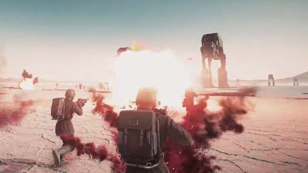 Battlefront II The Last Jedi DLC Crait battle