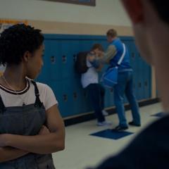 Ani and Clay noticing Luke bullying someone