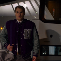 Bryce getting off the bus