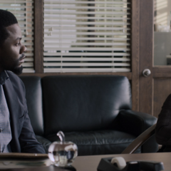 Mr. Porter interviewing Cyrus