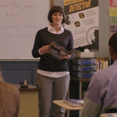 Teacher reading the poem in class