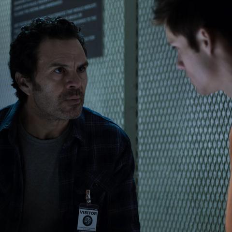 Mr. de la Cruz visiting Monty in jail