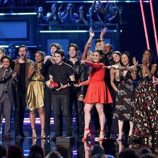 Celebrating at the MTV Awards
