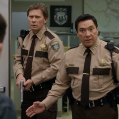 Sheriff Diaz trying to calm Clay down