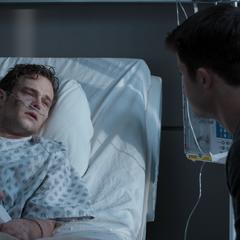 Clay saying goodbye to Justin