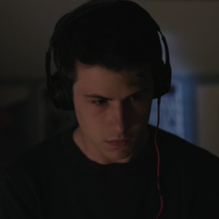 Clay listening to the tapes