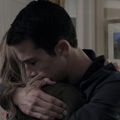Clay hugging his Mom