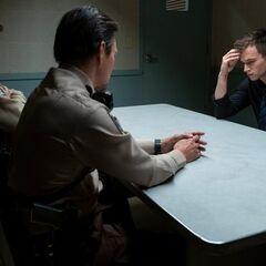 Justin getting interrogated