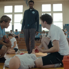 Tony and Tyler succeeding to save the dummy
