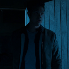 Zach entering the cabin