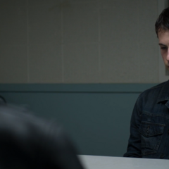Clay in an interrogation room