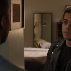 Tony talking with Caleb