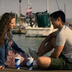 Hannah and Zach at the docks