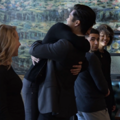 Zach hugging Justin