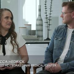 Dr. Rebecca Hedrick and Trevor Marti Smith
