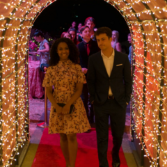 Ani and Clay arriving at the dance