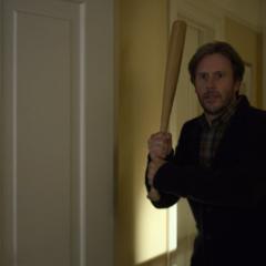 Mr. Jensen with a bat