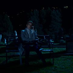 Olivia calling at the graveyard
