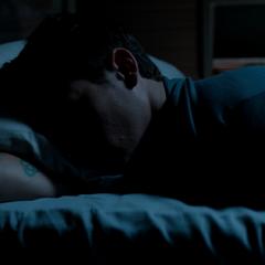 Justin sleeping