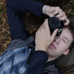 Tyler photographing nature