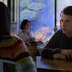 Clay talking to Sheri at Monet's