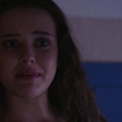 Hannah crying