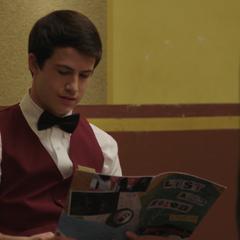 Clay reading Hannah's poem