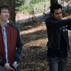 Tyler and Cyrus shooting guns