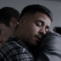 Tony and Clay hugging