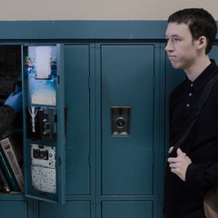 Tyler's locker getting searched