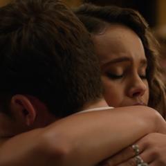 Justin and Jessica hugging