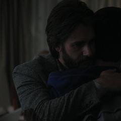 Mr. Jensen hugging Clay
