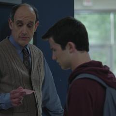 Clay and a teacher