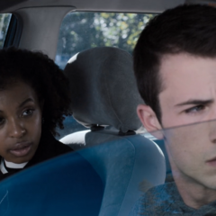 Ani and Clay in the car
