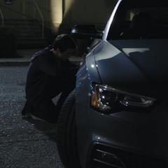 Clay keying Zach's car