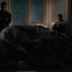 Tony and Clay watching Tyler sleep