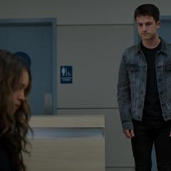 Clay telling Jessica that Justin's awake