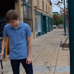 Alex destroying his cane