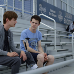 Alex and Clay watching sports practice
