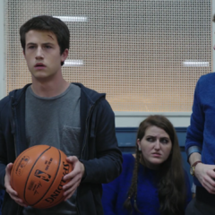 Clay with the basketball