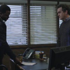 Mr. Baker confronting Mr. Porter