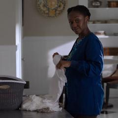 Amara Josephine doing laundry