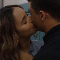 Jessica kissing Diego