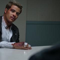 Tony in an interrogation room