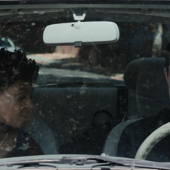 Ani and Clay in a car