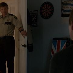 Bill entering Alex's room