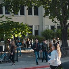Zach and Alex leaving school
