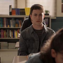 Clay attending school